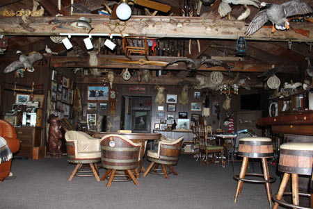 This view of the lounge area hasn't changed much through the years and it's always intriguing.  Here games are played and tales are swapped. (Picture by Lori Rhodes)
