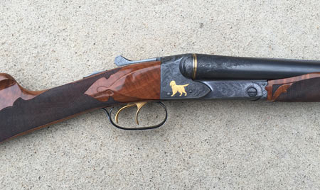 The last of the old shotguns was the Winchester Model 21 introduced in 1931. This one was mad in 1939 and has been customized to suit its current owner.