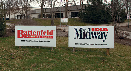 The Battenfeld and MidwayUSA businesses were side by side on the campus.