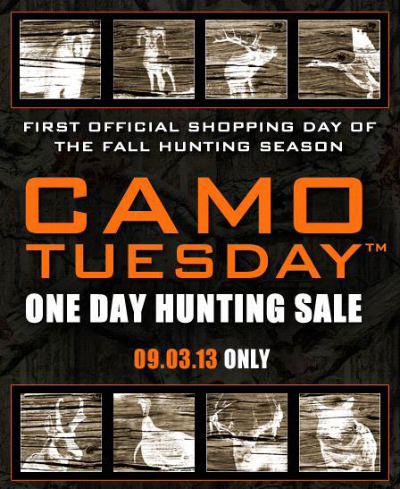 Camo Tuesday Returns September 3!