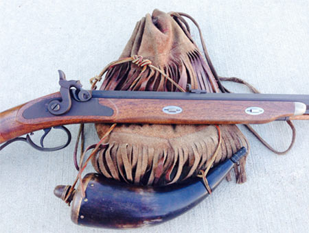 Possibles Bag, Powder Horn and Jonathan Browning Mountain Rifle