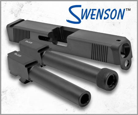 MidwayUSA Now Offering Swenson Glock Barrels and Slides