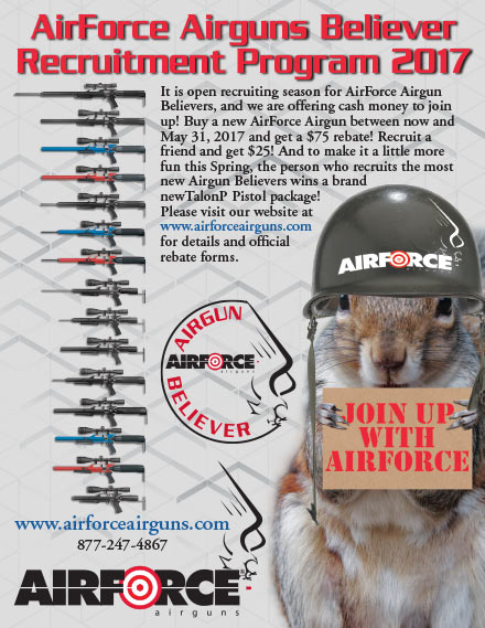 AirForce Airguns $75 & $25 Mail-In Rebate on Airguns