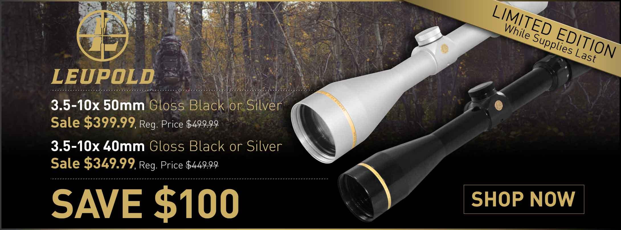 Save $100 on Leupold VX-3i Rifle Scopes Sliver & Gloss
