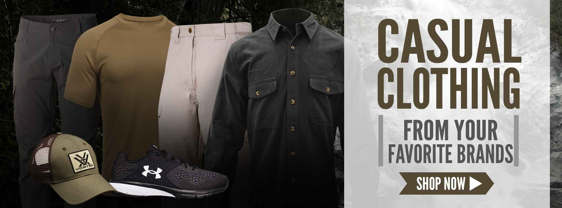 Casual Clothing & Footwear From Your Favorite Brands