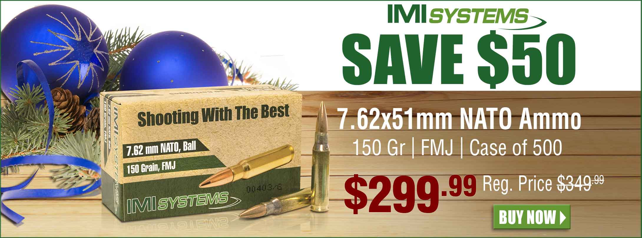 Save $50 on IMI 7.62x51mm NATO Ammo Case of 500