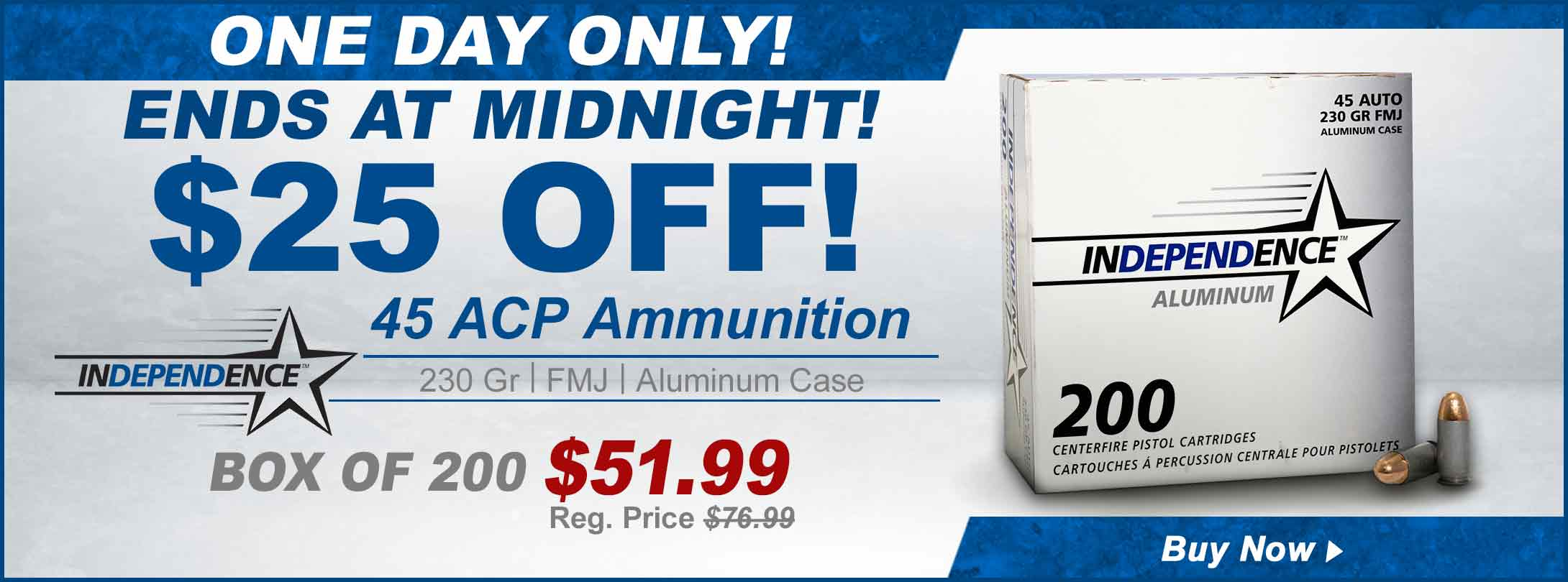 Save on Independence 45 ACP Ammo!