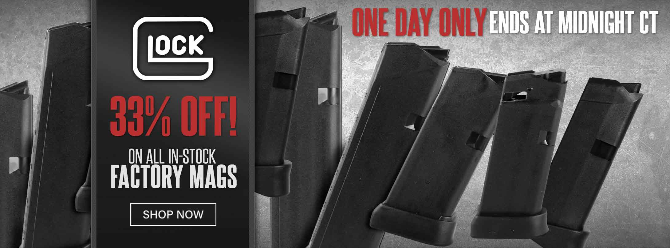 Save on In-Stock Factory Glock Mags
