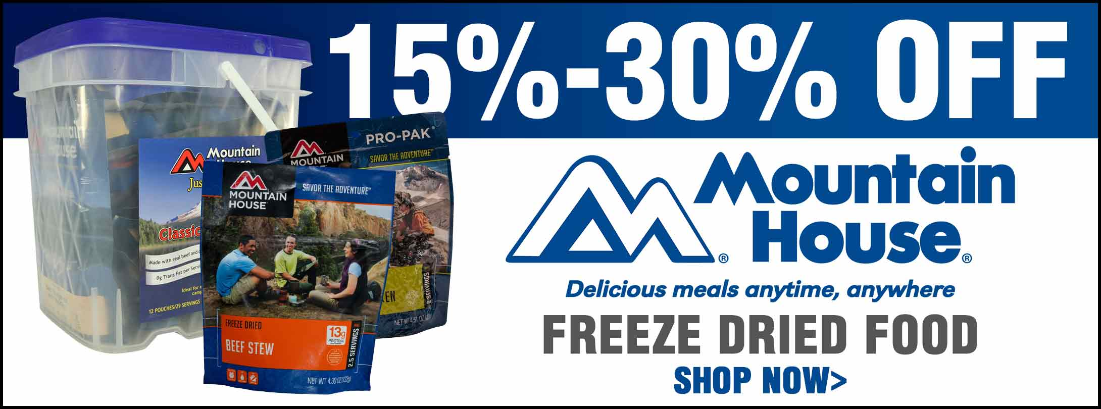 Save on Mountain House Freeze Dried Food!