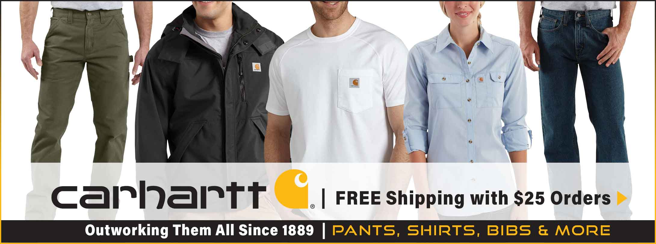 FREE Shipping with $25 Orders on Carhartt