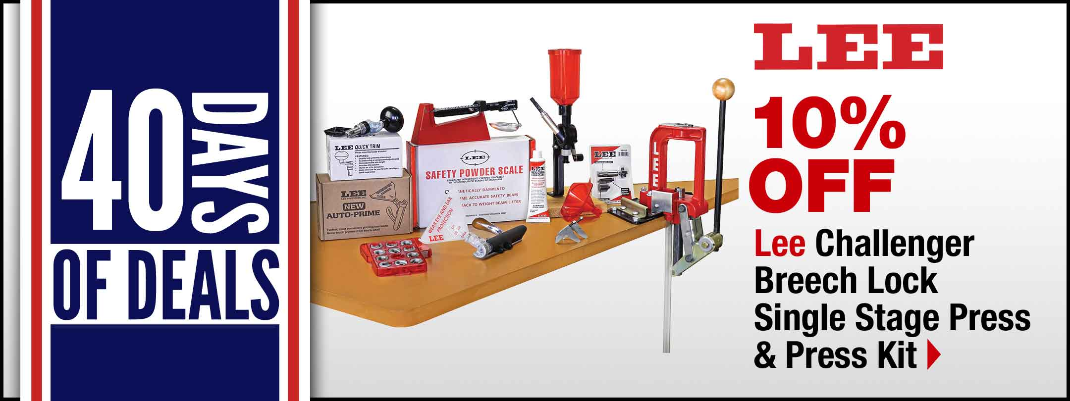 Lee Challenger Breech Lock Single Stage Press & Press Kit