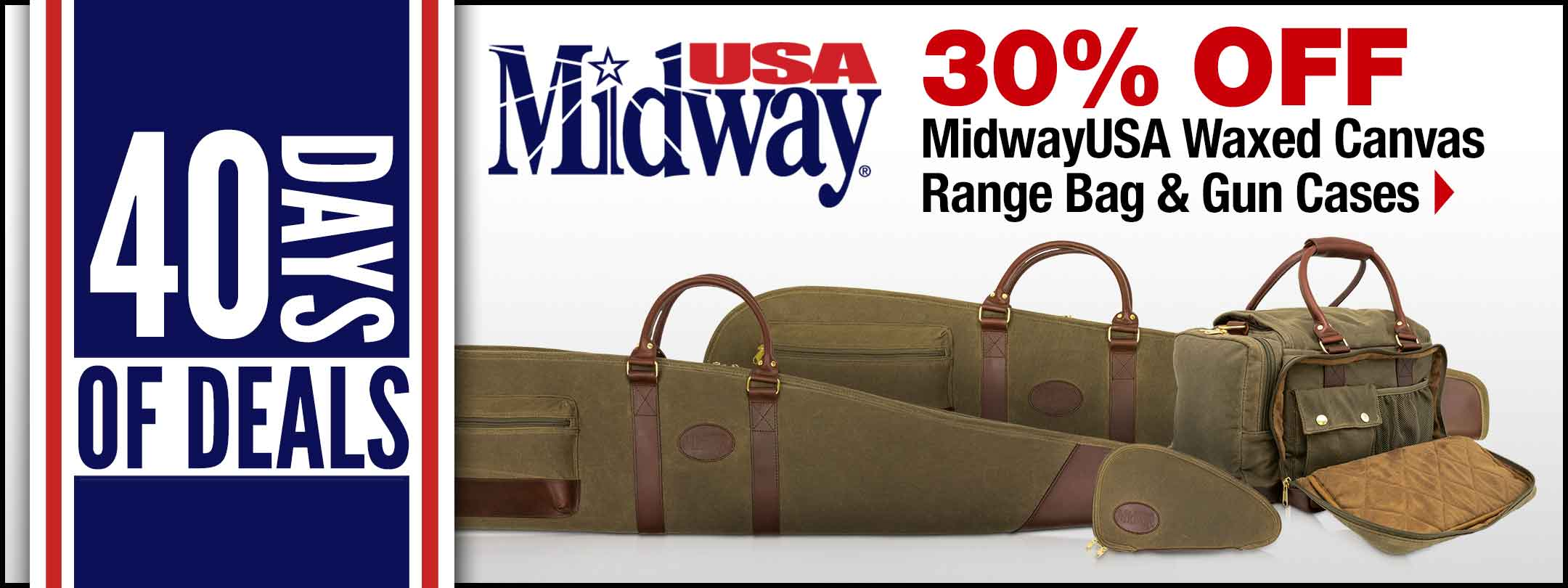 MidwayUSA Waxed Canvas Range Bag & Gun Cases