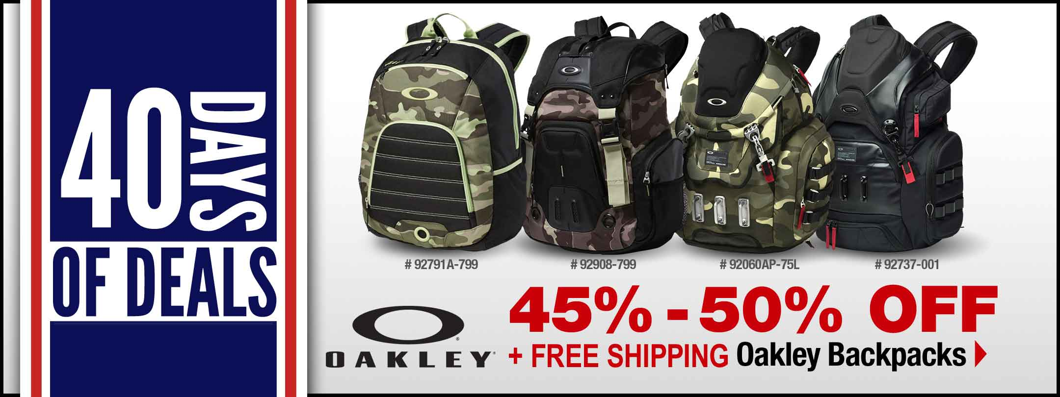 Save on Oakley Backpacks!
