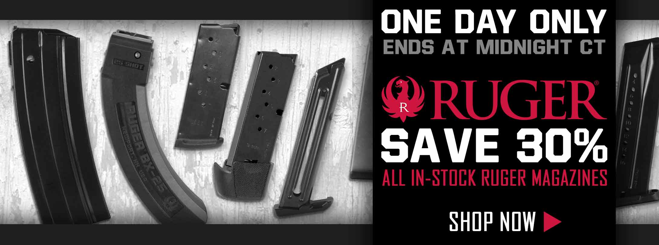30% Off All In-Stock Ruger Mags