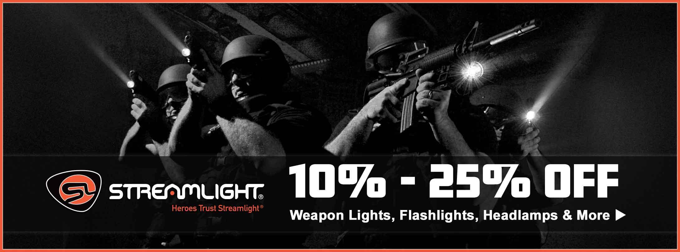 10% - 25% Off Streamlight Weapon Lights, Flashlights & More!