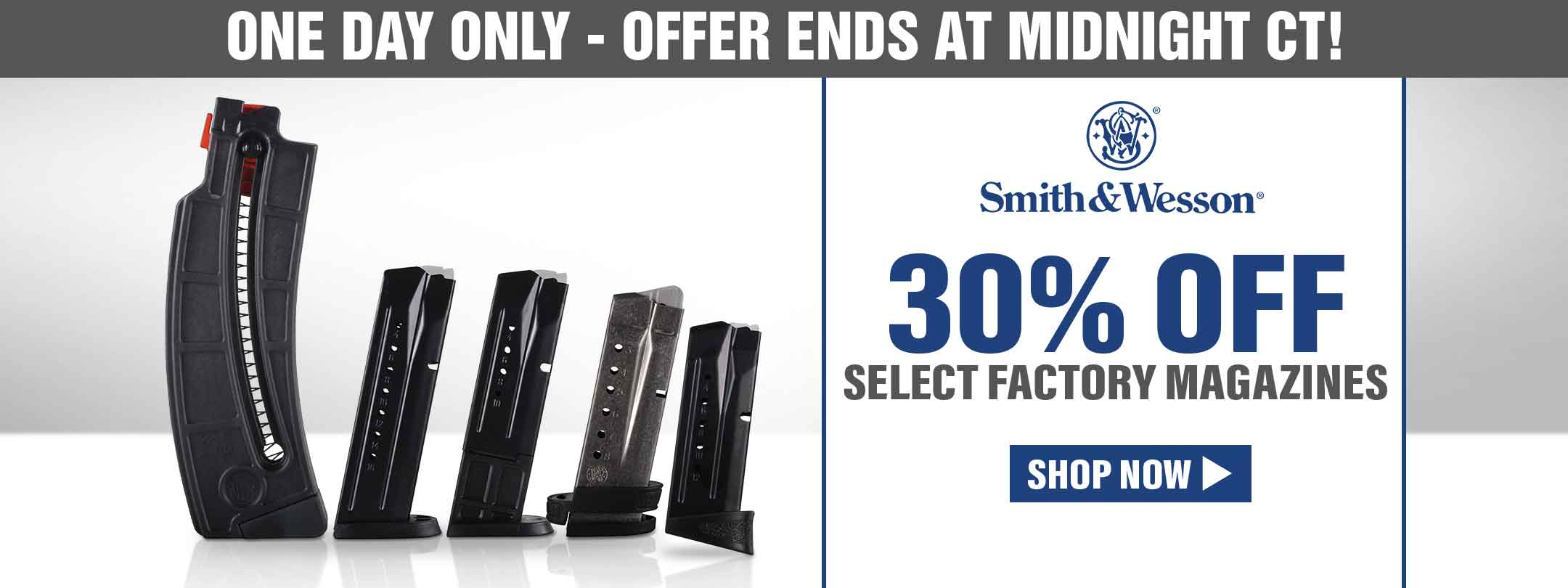 30% Off Select Factory Smith & Wesson Magazines