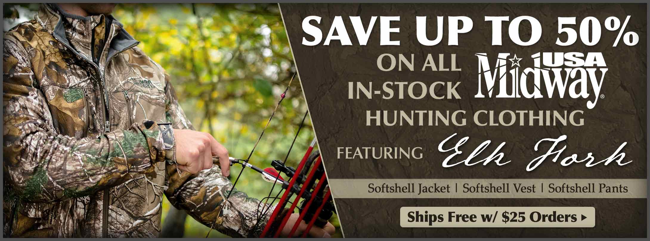 Save on MidwayUSA Hunting Clothing