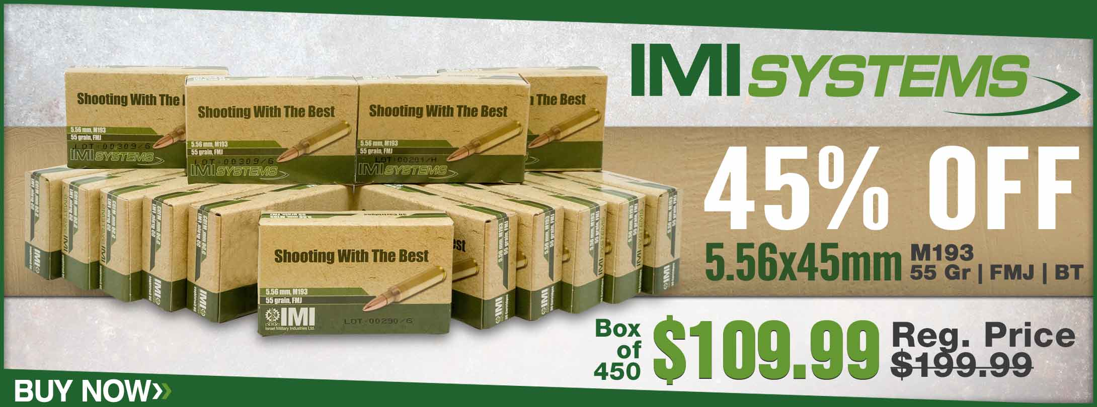 Save on IMI 5.56x45mm M193