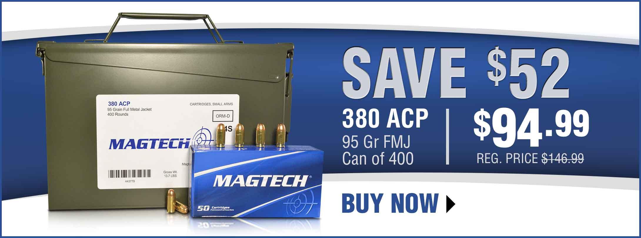 Save on Magtech 380 ACP Ammo!
