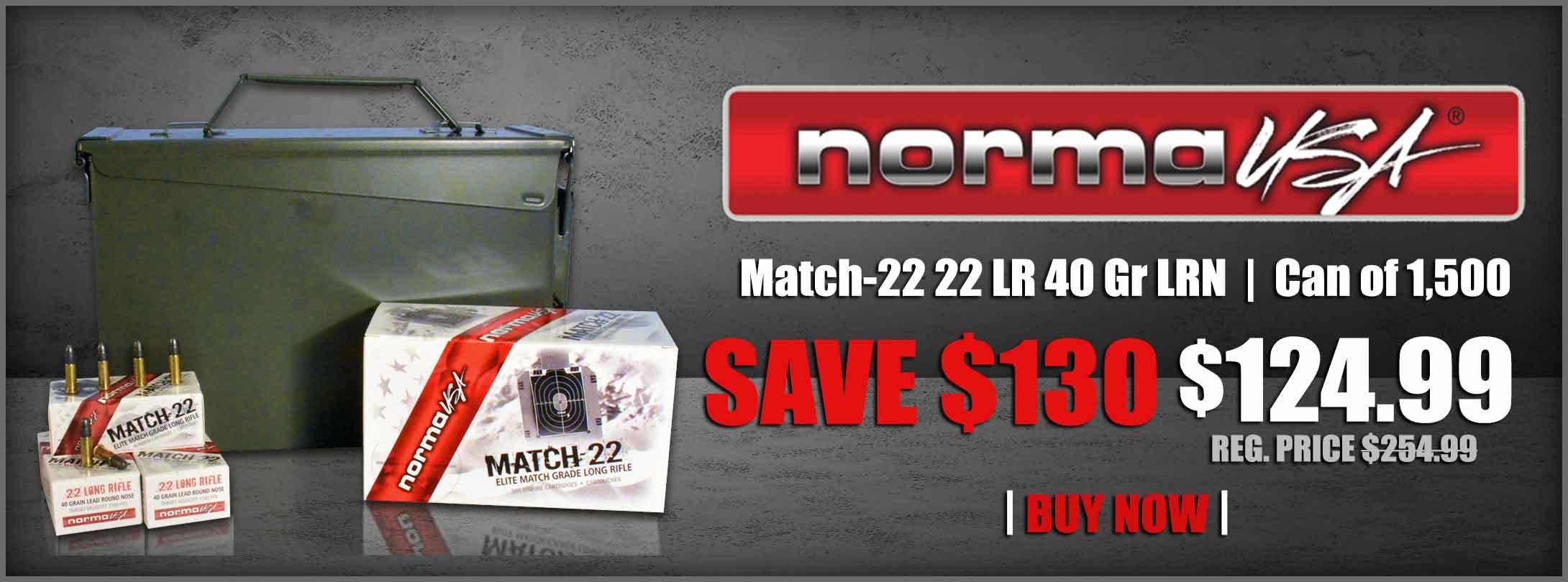 MidwayUSA Norma Match-22 22 LR Ammo rimfire ammunition