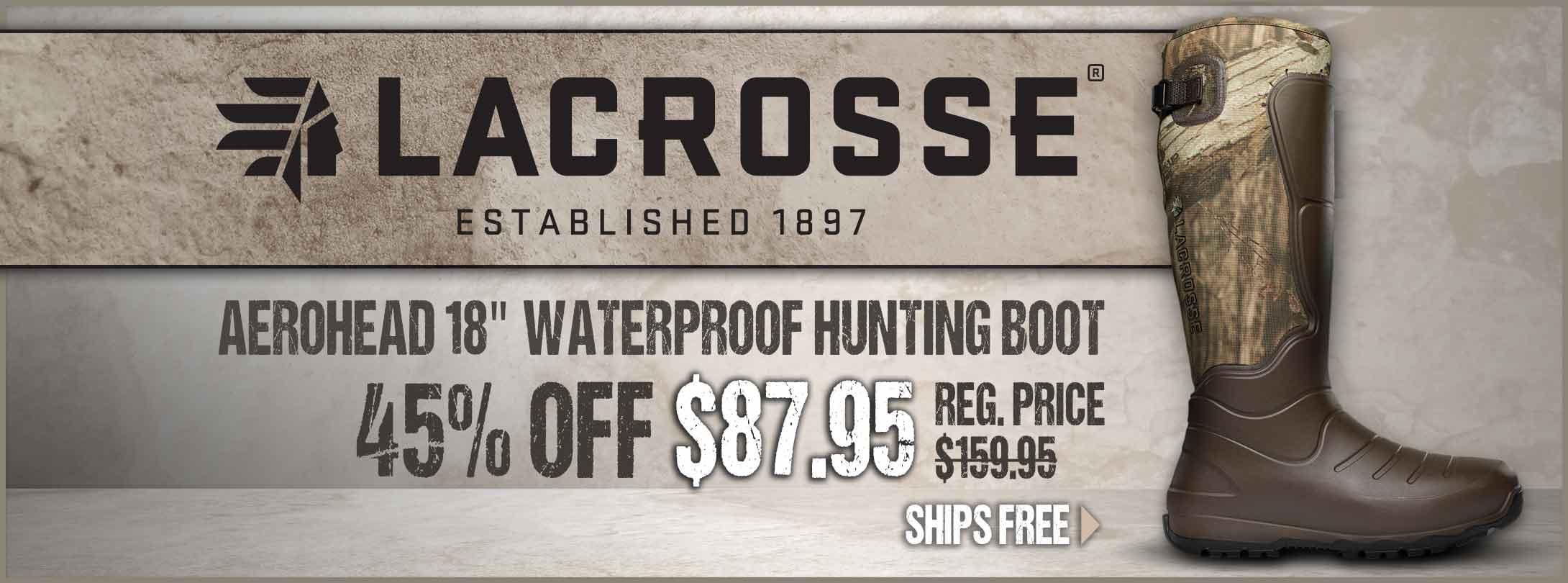 45% Off LaCrosse Aerohead Boots