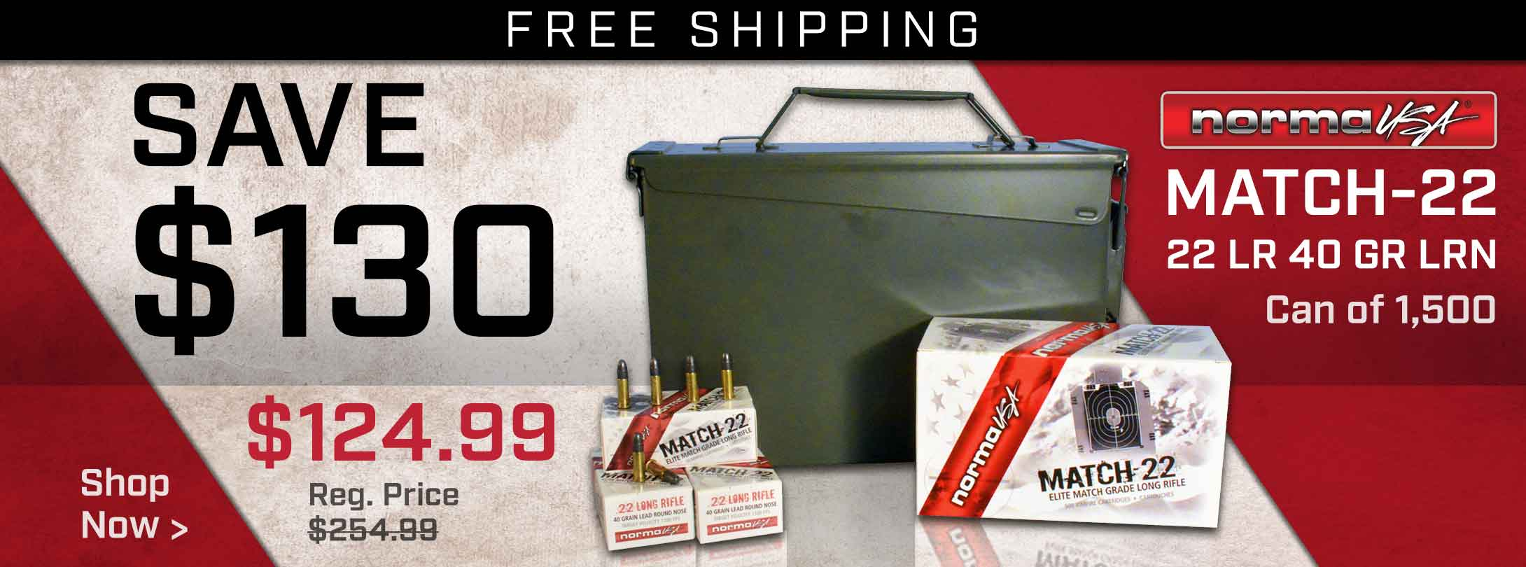 Save on Norma Match-22 Ammo!