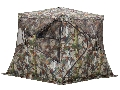 "Product detail of Barronett Bell Bottom Flared Base Ground Blind 87"" x 87"" x 67"" Polyester Bloodtrail Camo"