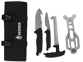 Gerber Moment Field Dress Kit 4 Piece Fixed Blade Gut Hook, Caping Knife, Bone Saw and Brisket Spreader