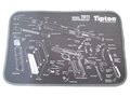 "Tipton 1911 Gun Cleaning and Maintenance Mat 12"" x 24"" Gray"