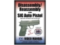 "American Gunsmithing Institute (AGI) Disassembly and Reassembly Course Video ""Sig Sauer Auto Pistols"" DVD"
