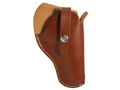 """Hunter 2400 Crossdraw Holster Right Hand Small and Medium Frame Double-Action Revolver 2"""" to 3"""" Barrel Leather Tan"""