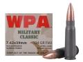 Wolf Military Classic Ammunition 7.62x39mm 124 Grain Full Metal (Bi-Metal) Jacket Steel Case Berdan Primed