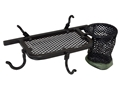 Big Game Hub-Style Ground Blind Organizer Steel Black