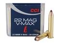 CCI Maxi-Mag Ammunition 22 Winchester Magnum Rimfire (WMR) 30 Grain Hornady V-Max