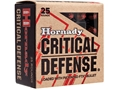 Hornady Critical Defense Ammunition 9mm Luger 115 Grain Flex Tip eXpanding Box of 25