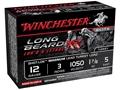 """Winchester Long Beard XR Turkey Ammunition 12 Gauge 3"""" 1-7/8 oz #5 Copper Plated Shot"""