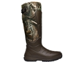 "LaCrosse 7mm Aerohead 18"" Waterproof Insulated Hunting Boots Polyurethane Clad Neoprene Realtree Xtra Camo Men's"