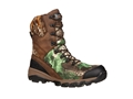 """Rocky Adaptagrip 8"""" Waterproof Uninsulated Hunting Boots Leather Brown and Realtree Xtra Green Men's"""