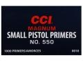 CCI Small Pistol Magnum Primers #550