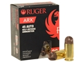 Ruger Self Defense Ammunition 45 ACP 118 Grain PolyCase ARX