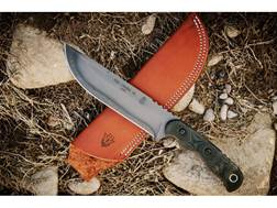"TOPS Knives Tex Creek XL Fixed Blade Knife 6.13"" Drop Point 1095 High Carbon Alloy Blade Canvas M..."