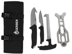 Gerber Moment Field Dress Kit 4 Piece Fixed Blade Gut Hook, Caping Knife, Bone Saw and Brisket Sp...