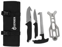 Gerber Moment Field Dress Kit 4 Piece Fixed Blade Gut Hook, Caping Knife, Bone Saw and Brisket Sp...