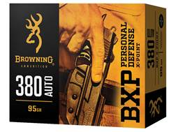 Browning BXP Personal Defense Ammunition 380 ACP 95 Grain X-Point