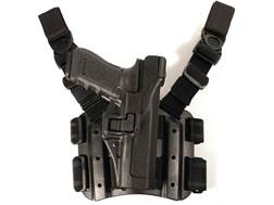BLACKHAWK! Tactical Serpa Level 3 Thigh Holster Right Hand Beretta 92, 96, M9, M9A1 Polymer Black