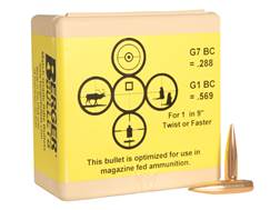 Berger Match AR Hybrid Tactical Bullets 264 Caliber, 6.5mm (264 Diameter) 130 Grain Open Tip Matc...
