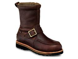 "Irish Setter Wingshooter 9"" Waterproof Uninsulated Size-Zip Hunting Boots Leather Brown Men's"