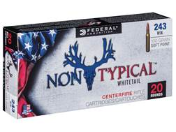Federal Non-Typical Ammunition 243 Winchester 100 Grain Soft Point Box of 20