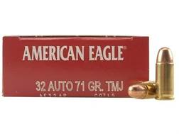 Federal American Eagle Ammunition 32 ACP 71 Grain Total Metal Jacket Box of 50