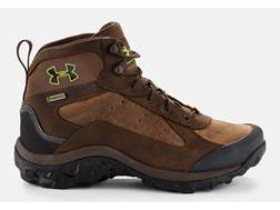 "Under Armour UA Wall Hanger 8"" Waterproof Uninsulated Hunting Boots Leather Brown/Uniform Men's"